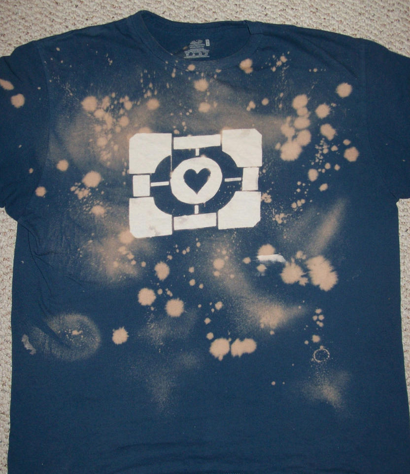 Companion Cube Shirt by c0ver-ur-eyes