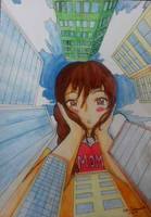 Drawing: Clarie Towers Over The City! by kjl03
