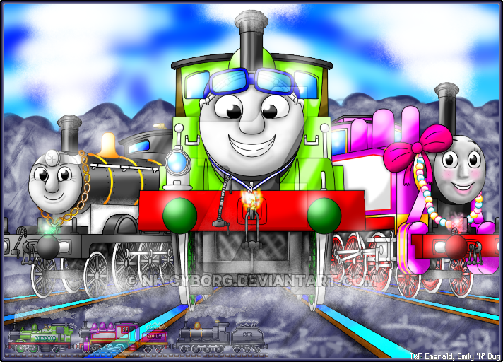 Thomas And Friends Emerald Emily N Bug by NkCyborg on DeviantArt