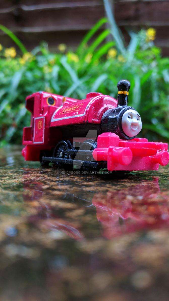 ~Skarloey in the Rain~ by Nk-Cyborg