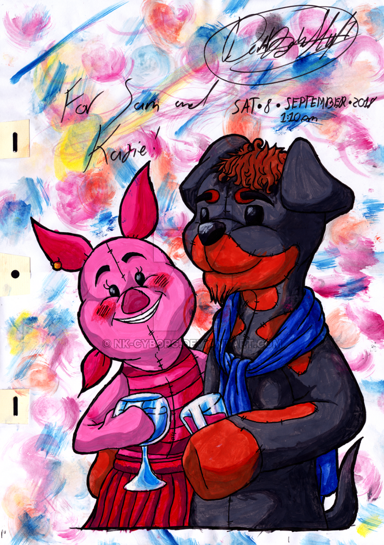 ~Watercolour - Sam and Katie~ by Nk-Cyborg