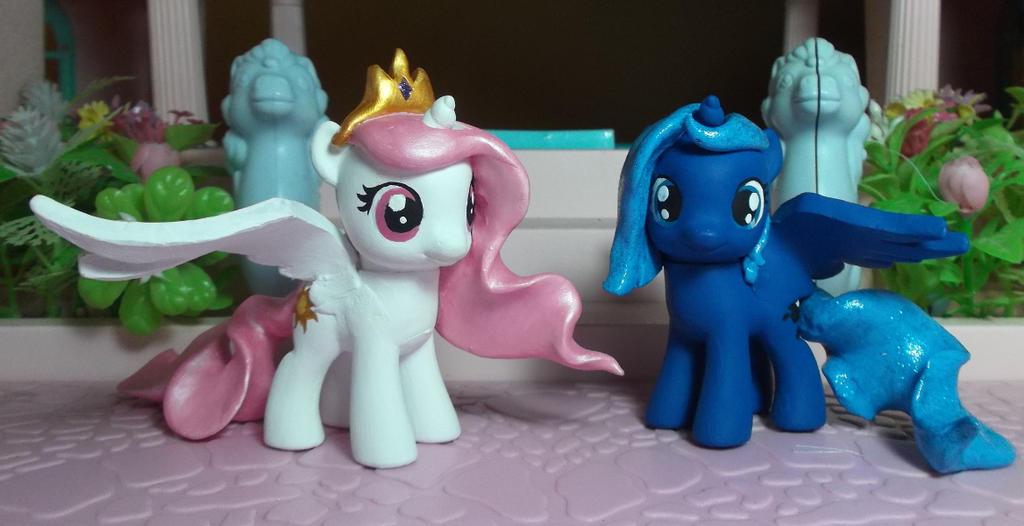 my little pony filly princess Celestia and luna by SanadaOokmai on