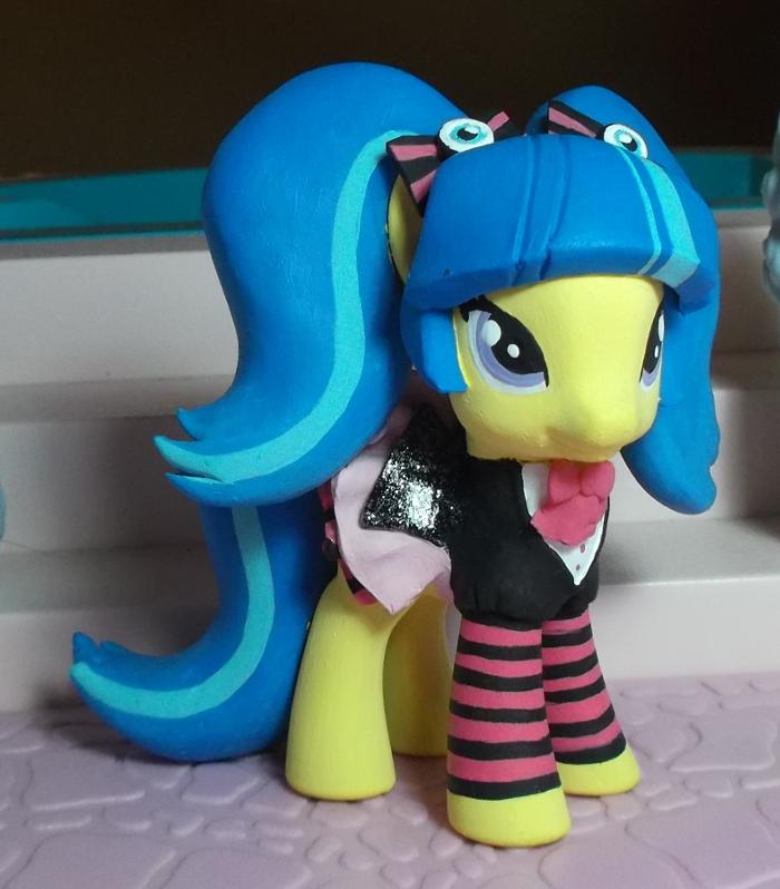 my little pony custom Pixel Pizzazz by SanadaOokmai