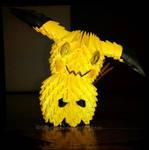3D Origami Mimikyu/Mimiqui - Pokemon by SNocturne