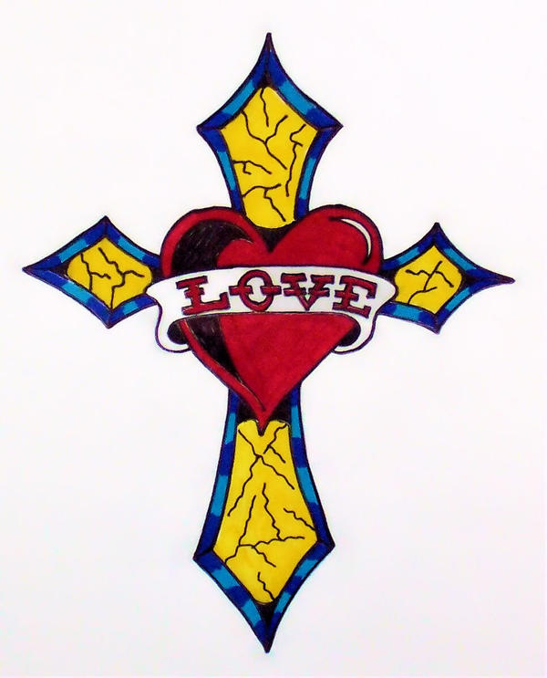 ed hardy heart cross for mom by thejokesonyou on deviantart. Black Bedroom Furniture Sets. Home Design Ideas