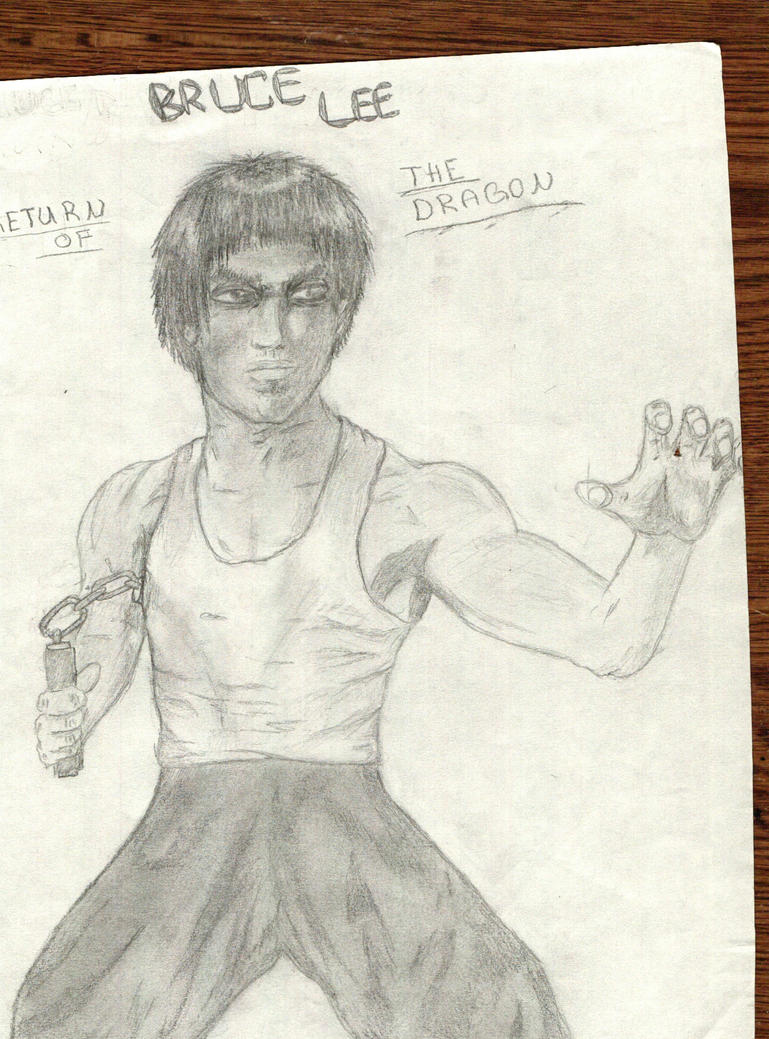 Bruce Lee Semi Realistic by flameguitarcody