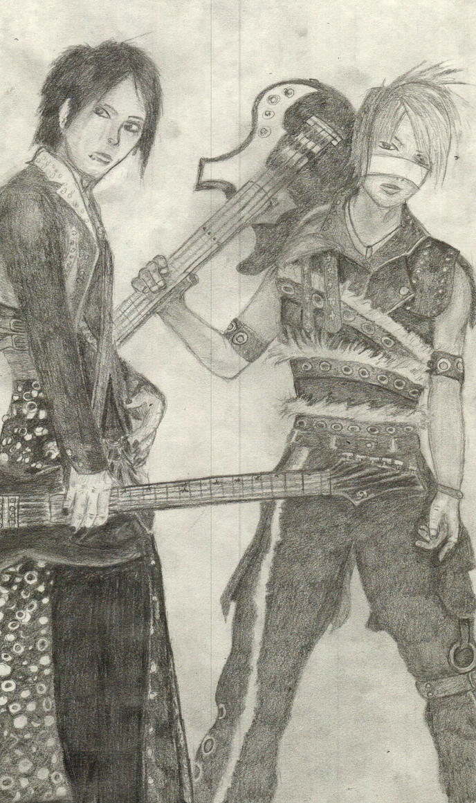 Aoi and Reita - the Gazette by flameguitarcody