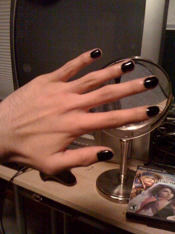 My Guy Nails 2 Black Nail Polish By Sephiroph44