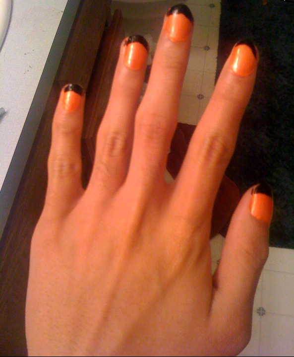 My Guy Nails 3 Orange and Black French tips by Sephiroph44 ...