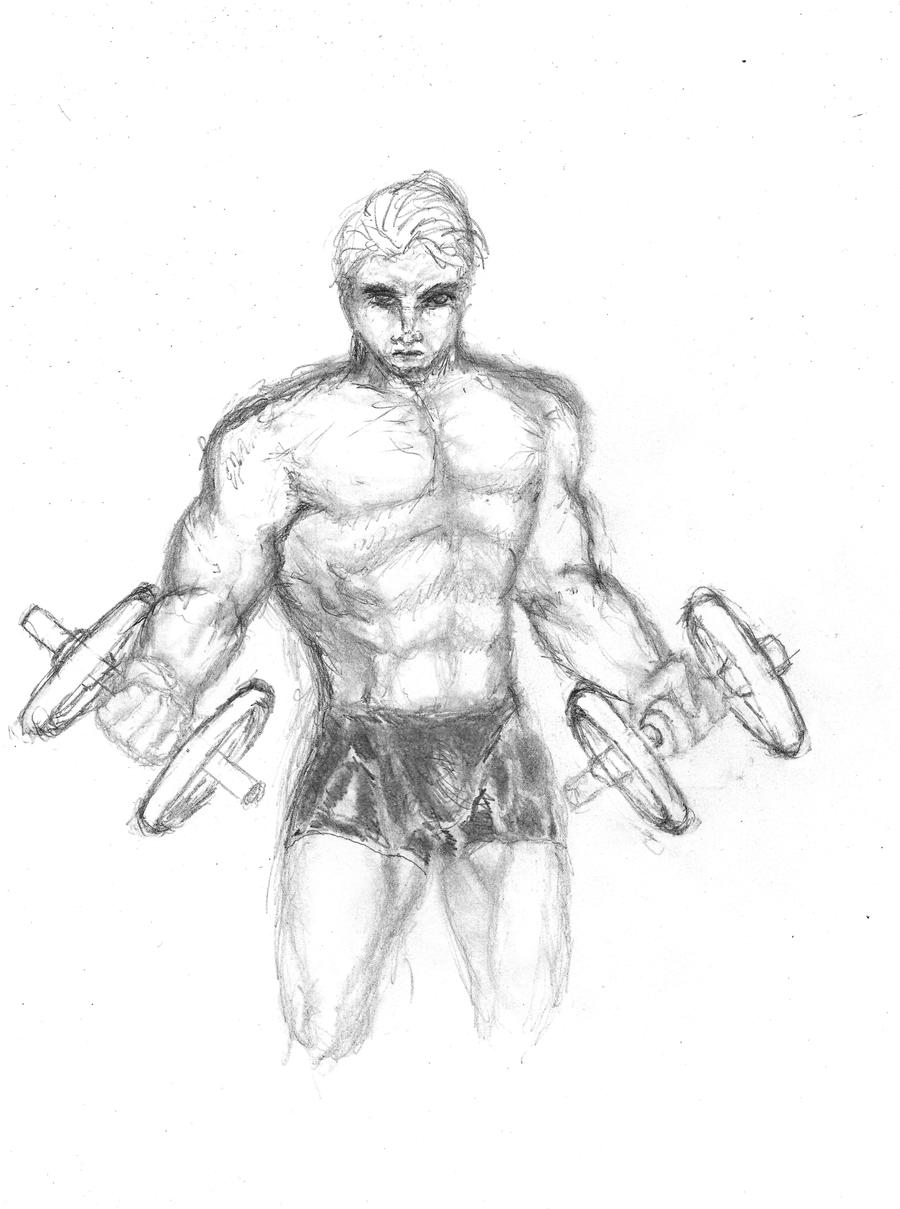 Male bodybuilder 'House of  Iron' by Ghiest1