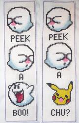 boo bookmark cross stitch by technoninjacus