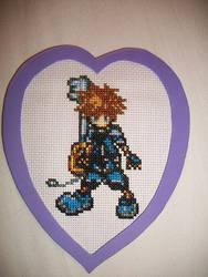 kingdom hearts cross stitch by technoninjacus