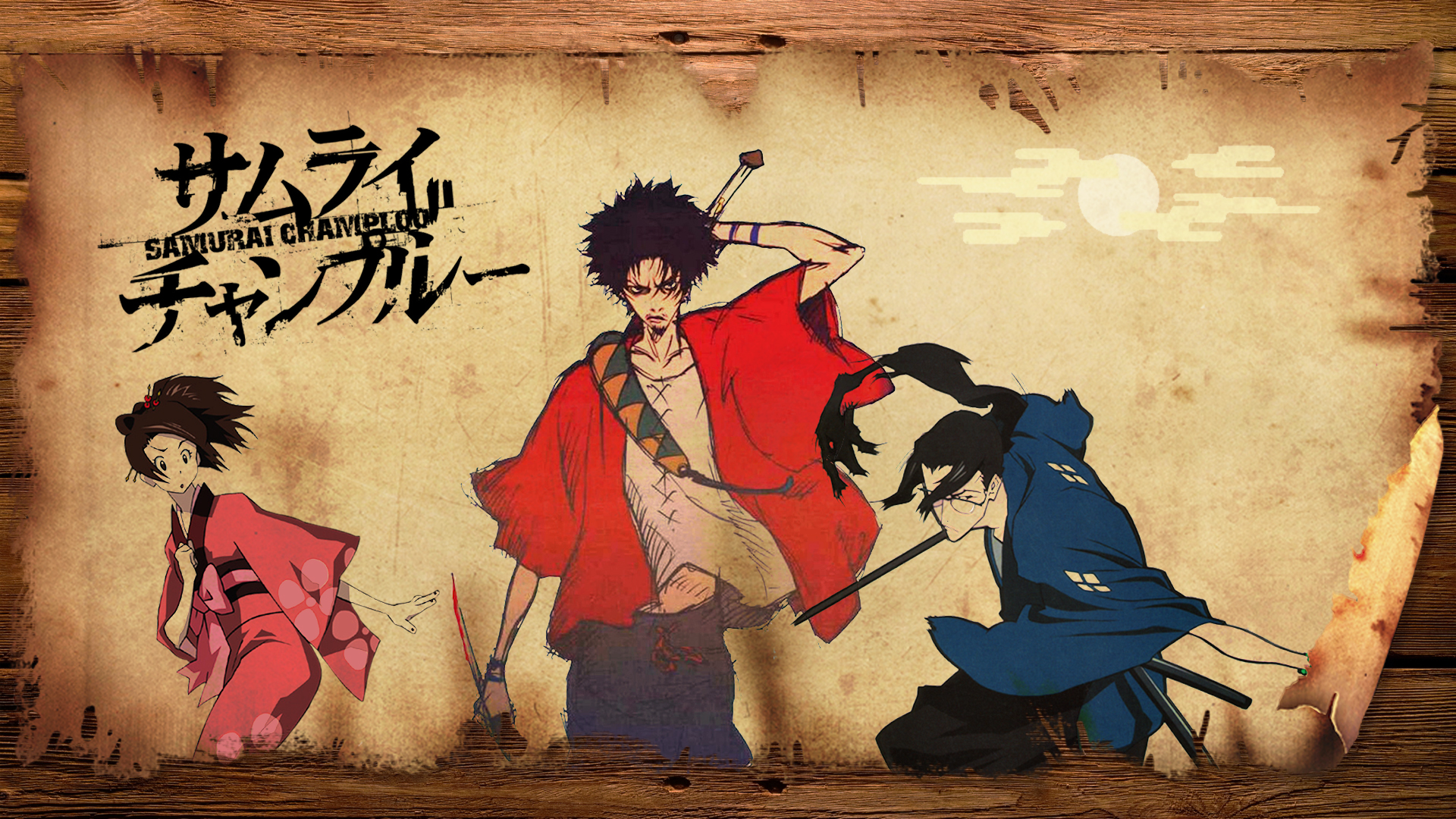 Samurai champloo fuu and mugen