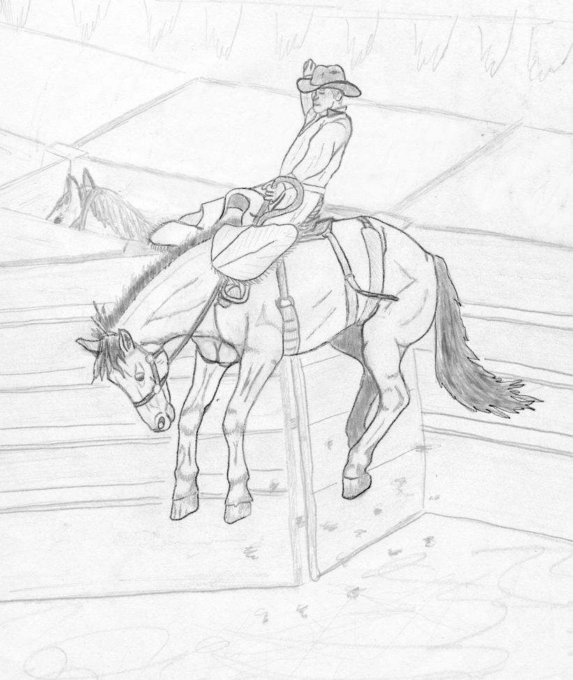 saddle bronc riding coloring pages - photo#38