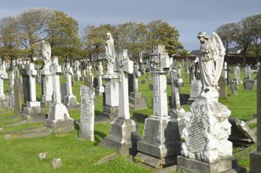 Tombstones @ Layton Cemetery, Blackpool, England