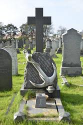 Cross @ Layton Cemetery, Blackpool, England