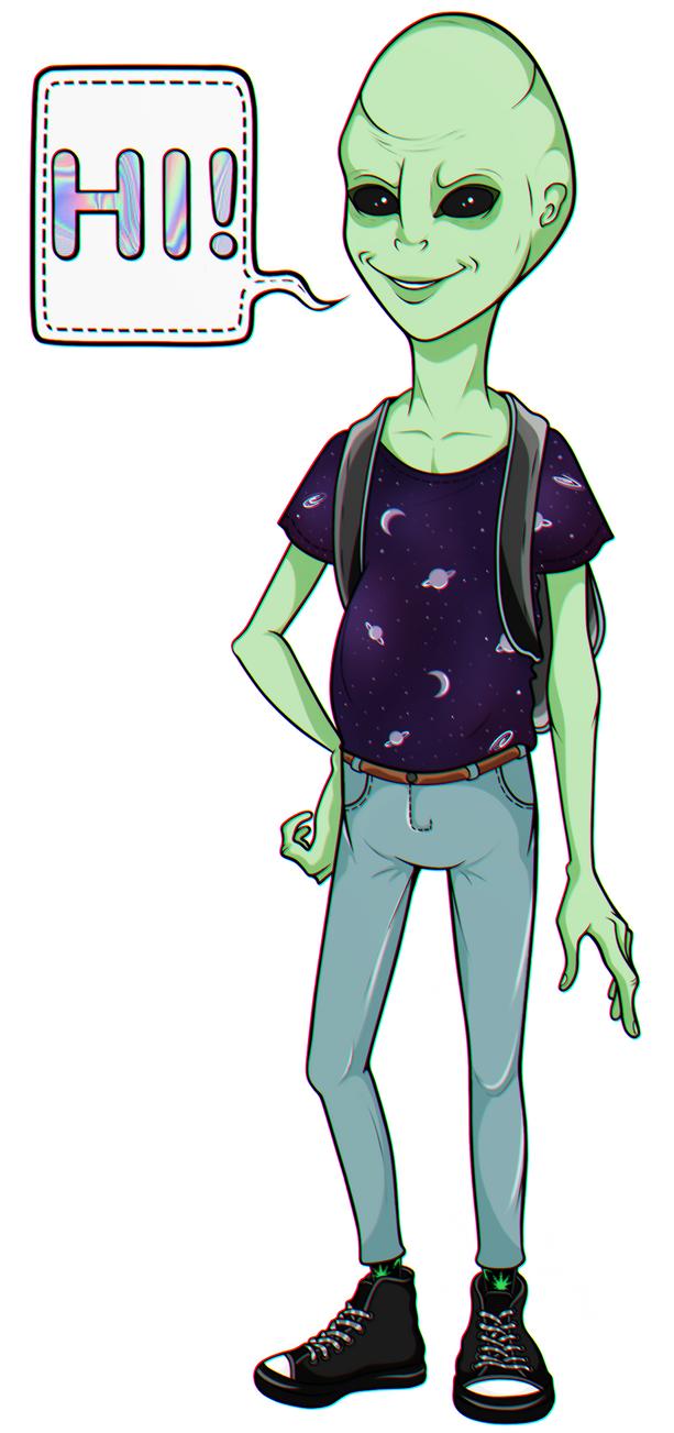 friendly alien by TheNastyW0rld