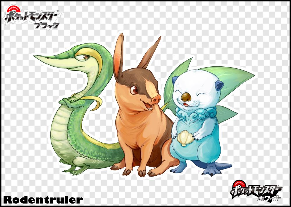 Gen V Starters by Rodentruler