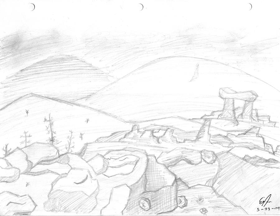 Art Sketches Landscapes my First Landscape Sketch by