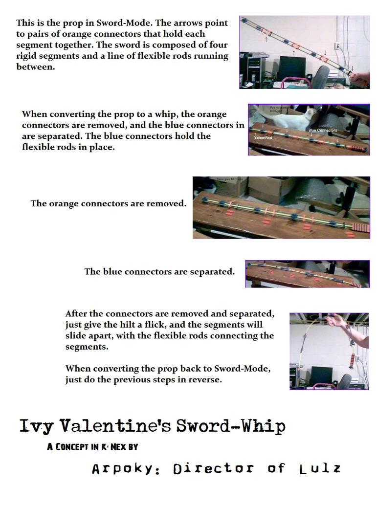 Ivy Valentine Retractable Whip-Sword Prototype by Arpoky