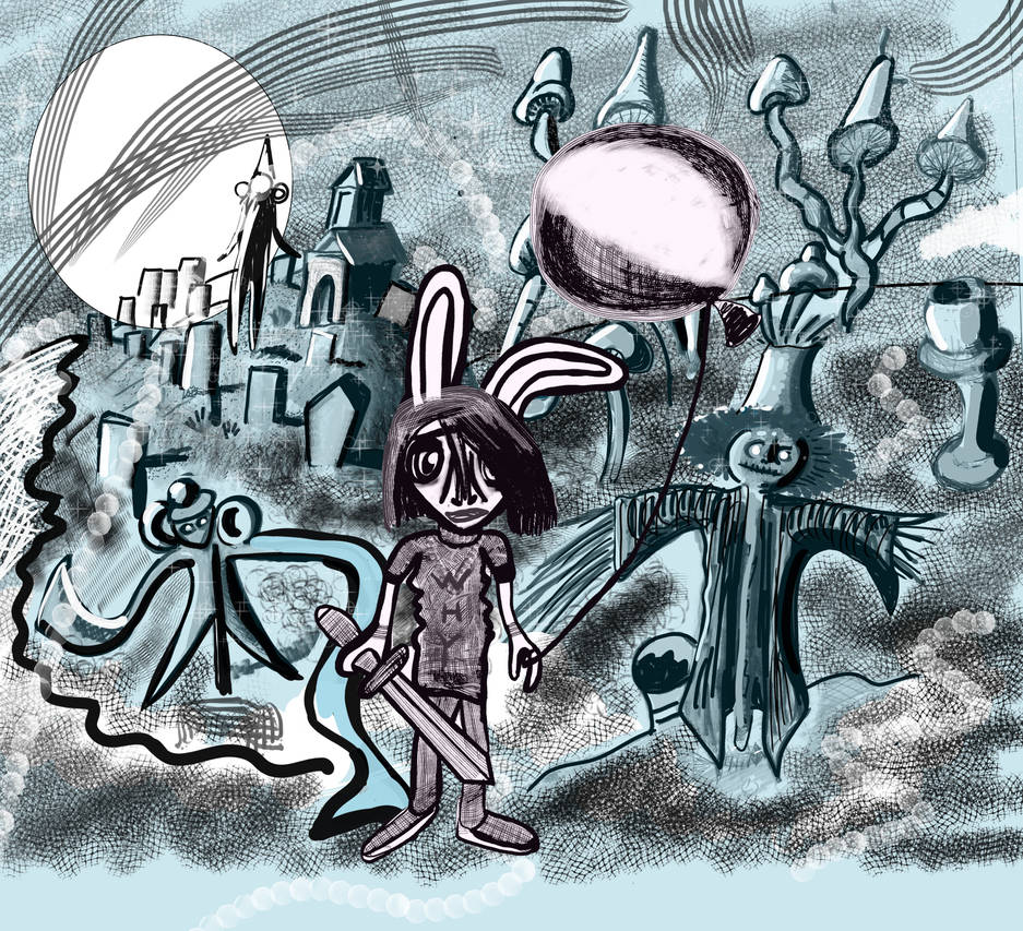 Graveyard, a melancholy Rabbit, his Adventure