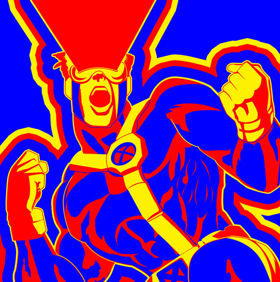 x men cyclops triadic color scheme by kayfriday on