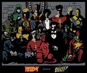JSA meets Hellboy - Color by Gat0rl1veBEATZ