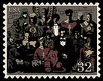 JSA meets Hellboy - Stamp