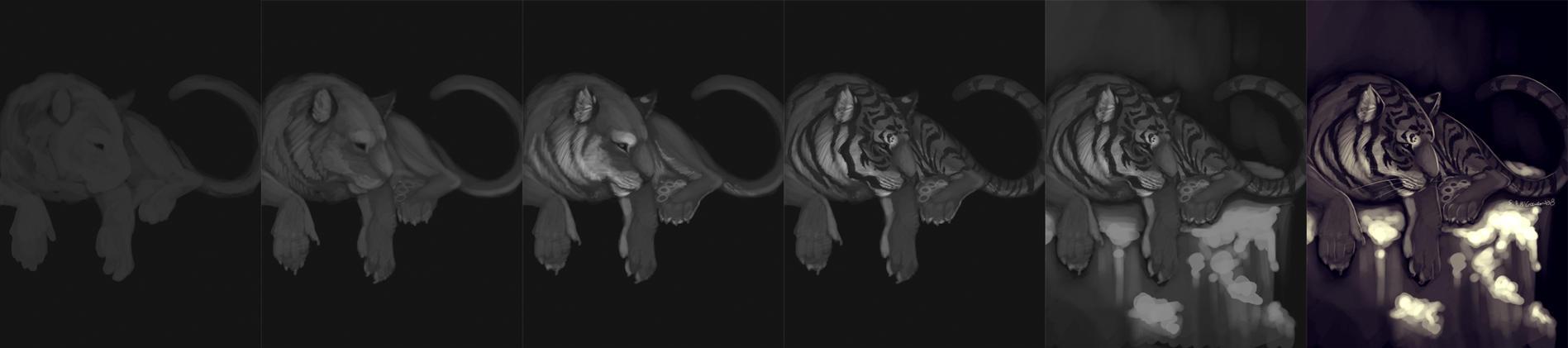 Tiger Speedpaint Walkthrough by sambees