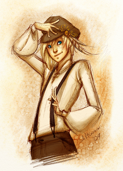 Crist Doodle Watercolour by sambees