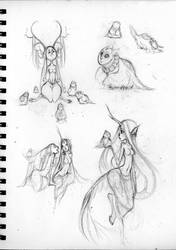 Sketches - Fawns by sambees