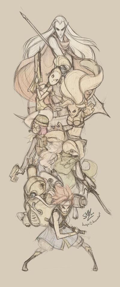 Chrono Trigger Party by sambees