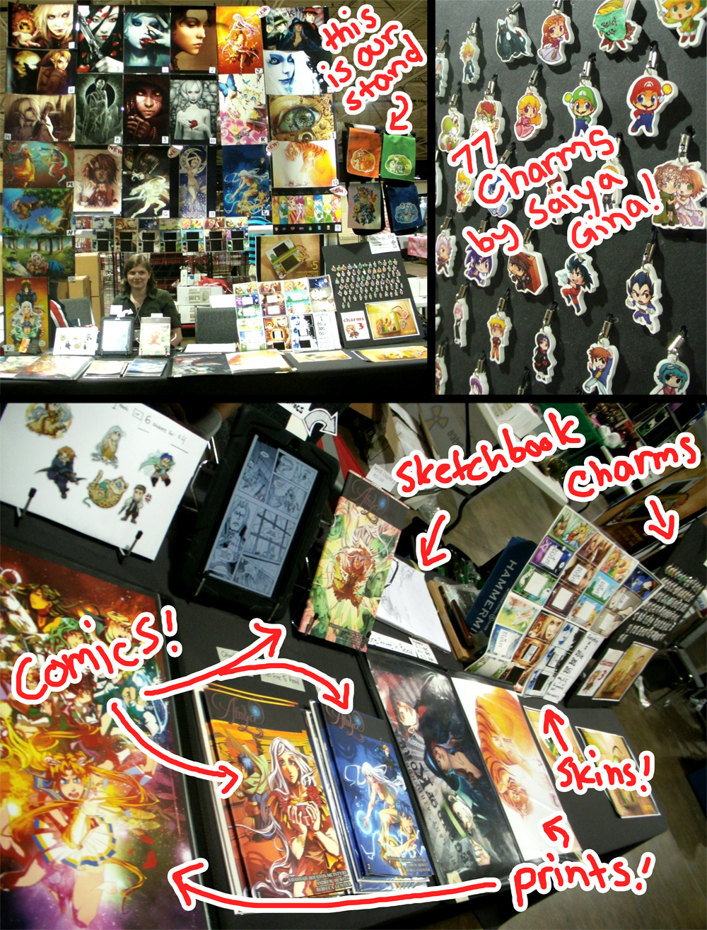 My Table at Anime North - Come By! by sambees