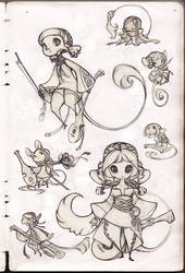 Mice Sketches by sambees