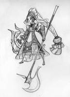 Shieldmaiden Sketch by sambees