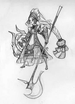 Shieldmaiden Sketch