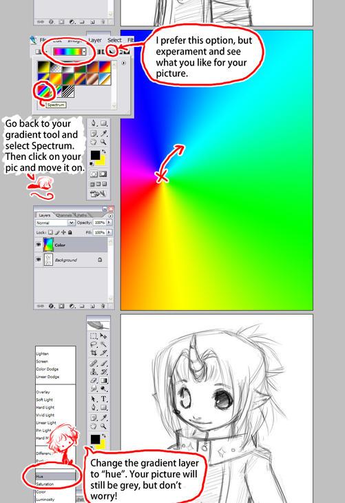 Easy Rainbow Gradient Tutoral by sambees