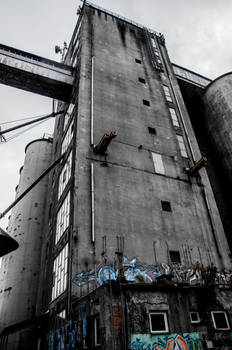 Old cereal processing plants in Warsaw