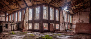Old cosmetics factory Pollena in Warsaw by Lantret