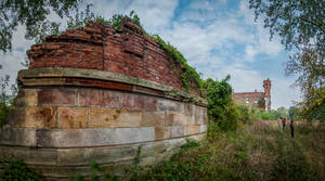 Modlin Fortress - Granary on the Narew 1844 by Lantret