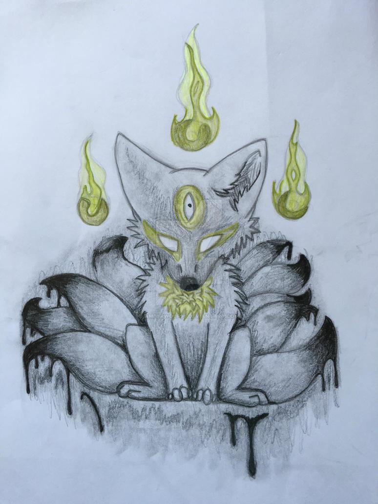 Corrupted Kitsune by AmberWolf96