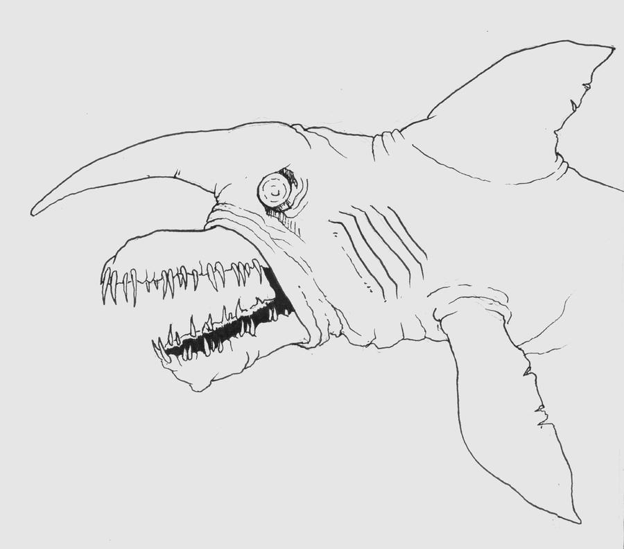 goblin shark coloring pages - photo#5