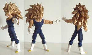 Vegeta Super Saiyan 3 custom action figure
