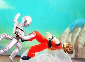 Metal Cooler's attack - Diorama Dragonball Z