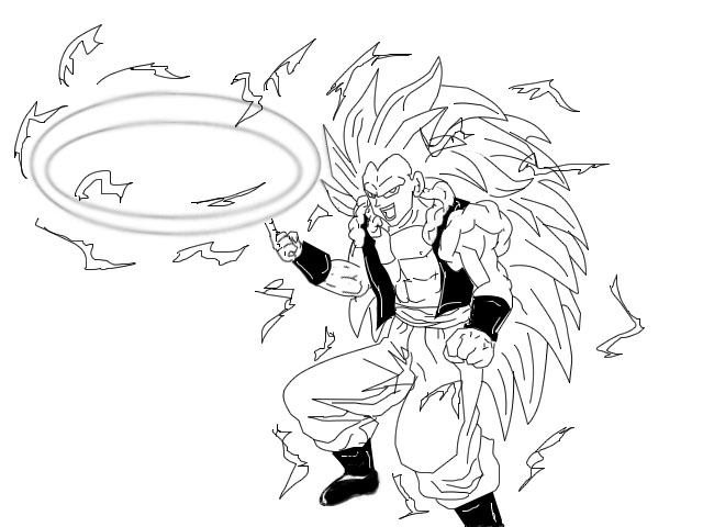 affordable dbgs super saiyan iii gotenks by pgv on deviantart with super saiyan coloring pages - Super Saiyan Goku Coloring Pages