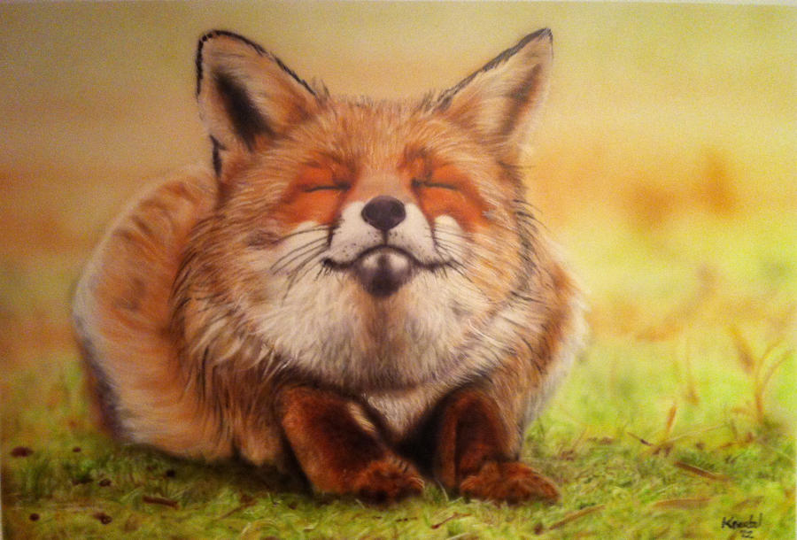 Happy Fox airbrushed by PatrickKneefel