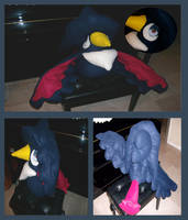 Honchkrow Plushie by saiyamewome