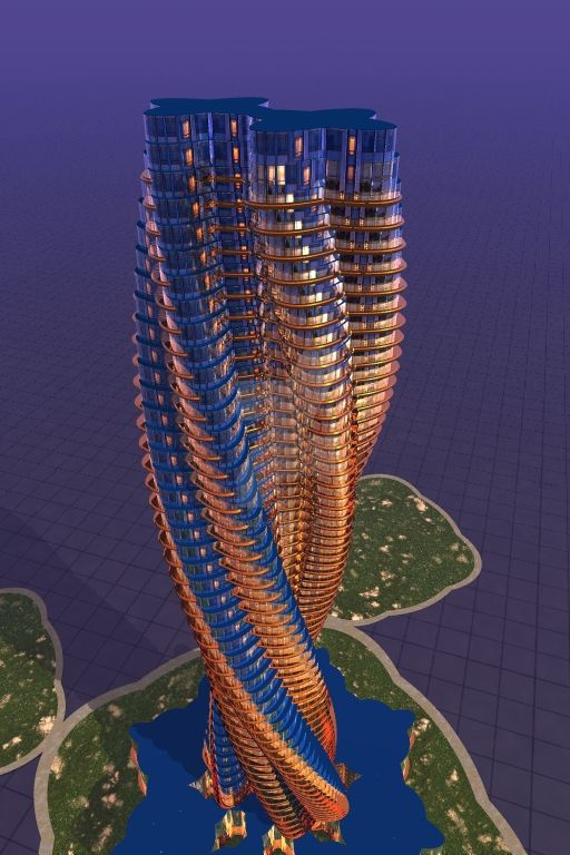 twisted Architecture 2017,twiated Towers and build by Waleedkarjah