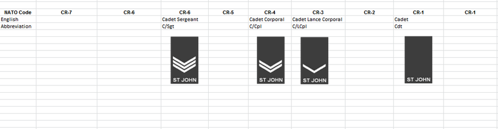 Ranks Of The St Johns Ambulance Association Cadets By DJ Chay