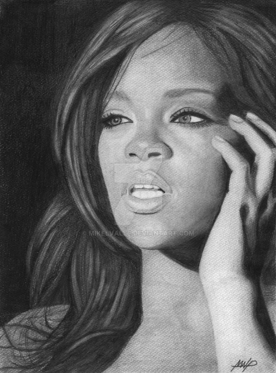 Rihanna by mikelvalle